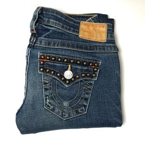 RARE True Religion Studded Billy Bootcut Jeans